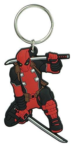 Marvel Deadpool - Llavero de PVC suave al tacto