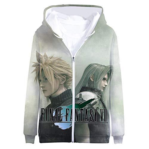 BIUBIUCLA Final Fantasy Pullover Chaqueta Sudadera Informal...