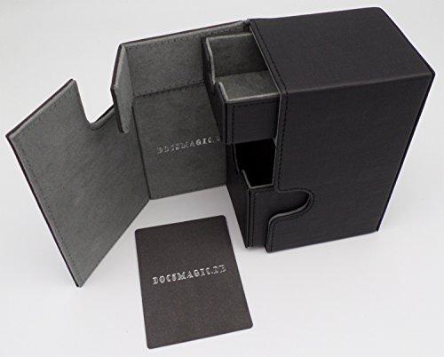 docsmagic.de Premium Magnetic Tray Box (80) Black + Deck...