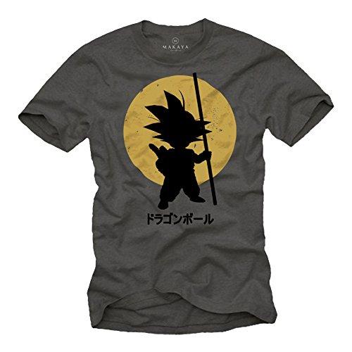 MAKAYA Camiseta Son Goku - Dragon - Gris XL