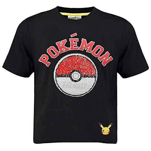 Pokèmon Camiseta Pikachu | Camiseta Lentejuelas Reversibles...