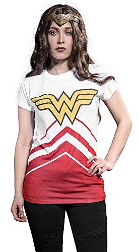 Wonder Woman Cheer Leader Camiseta Mujer Blanco L, 100%...