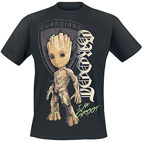 Guardianes De La Galaxia 2 - Groot Shield Hombre Camiseta...