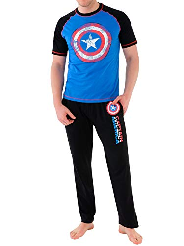Marvel - Pijama para Hombre - Avengers Capitán América -...