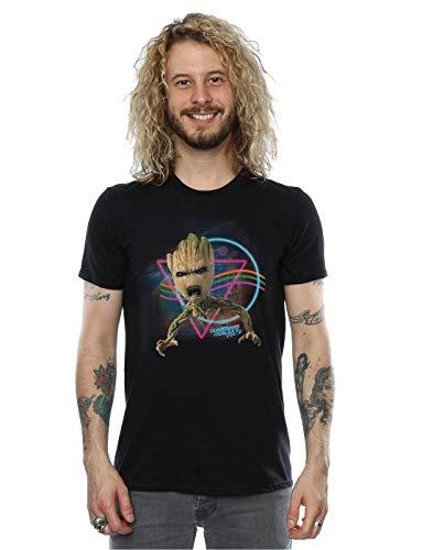 Marvel Hombres guardianes de la galaxia Neon Groot camiseta...