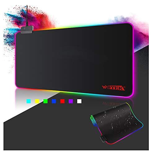 Alfombrilla de Ratón RGB, (800×300×4mm) 7 Colores con 14...