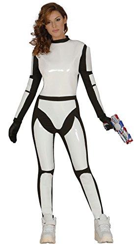 Guirca- Disfraz adulta soldado espacial, Talla 38-44...