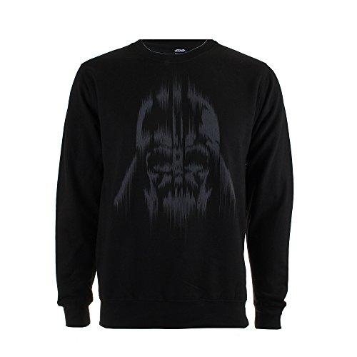 Star Wars Vader Lines Sudadera, Negro, L para Hombre