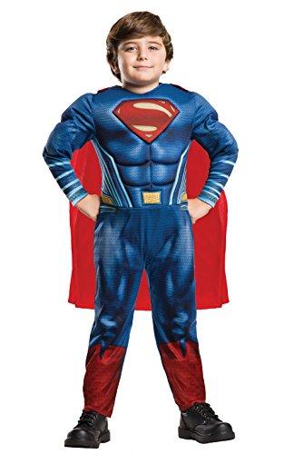 Rubies- Deluxe Superman Disfraz Infantil, Multicolor, M (5-6...