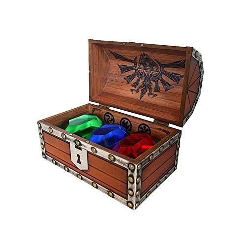 Zeda - Caja de madera con 3 rubíes, 6 unidades