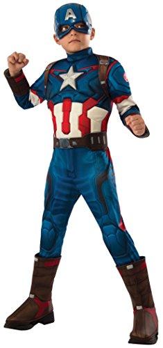 Rubies Capitán América - Disfraz deluxe, para niños,...