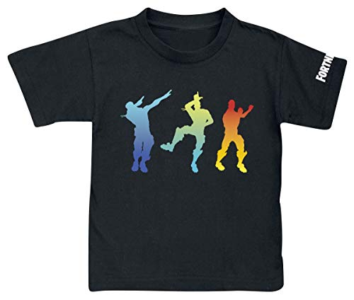 Camiseta Fortnite Dancing Black - Camiseta Fortnite Manga...
