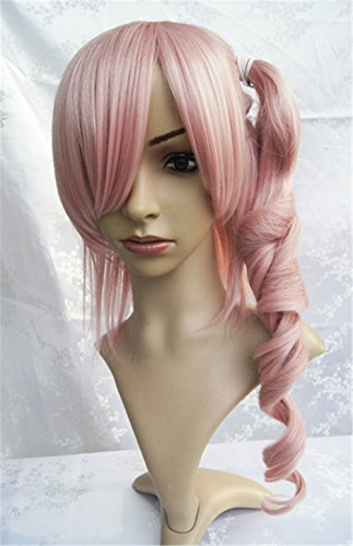 LanTing Cosplay Peluca FF13 Final Fantasy XIII Pink Curl...