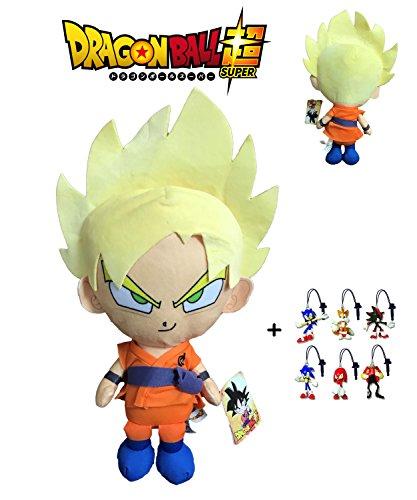 Dragon Ball Super - Peluche Goku Super Saiyan, pelo rubio...