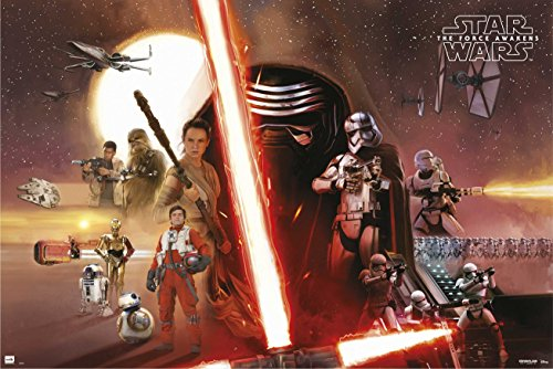 Grupo Erik Editores Poster Star Wars Vii All Characters