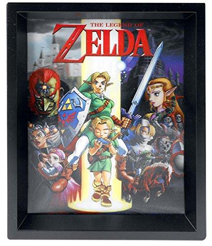Nintendo Póster The Legend of Zelda 3D Enmarcado...