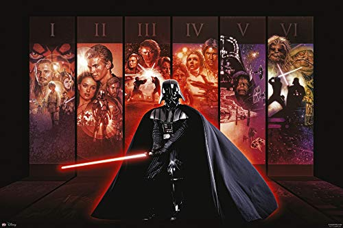 Star Wars - Póster con todos los episodios de Star Wars y...