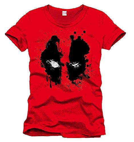 Marvel- Deadpool Splash Head Camiseta, Color (Rouge),...