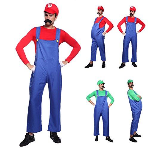 Anladia Disfraz de Mario Bros para Adulto Hombre Cosplay...