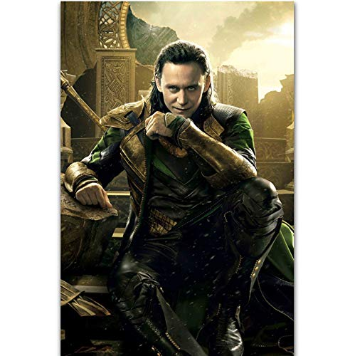 MZCYL Lienzo Pintura Pared Arte Imagen Loki Thor The Dark...