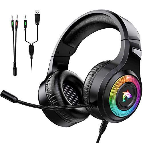 Cascos Gaming PS4,Cascos Gaming de Estéreo con Micrófono...