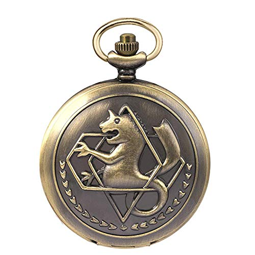 Fullmetal Alchemist - Reloj de bolsillo con caja de cadena...