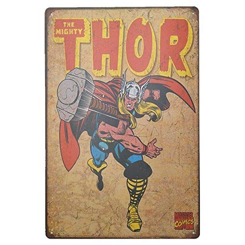 🥇 Placas Decorativas Pared Thor Ragnarok ✔️ Carteles...