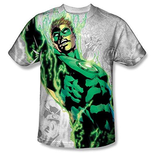 Green Lantern - Hombre Luz Em Up T-Shirt, Large, Sublimate...