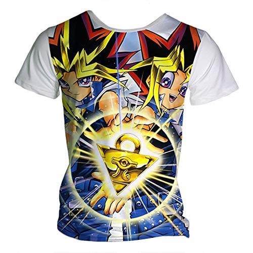 Yu-Gi-Oh Camiseta Camisetas Casual Camiseta Suave Colorido...