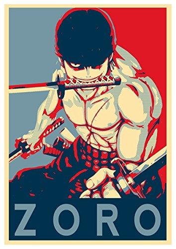 Instabuy Poster One Piece Propaganda Zoro - A3 (42x30 cm)