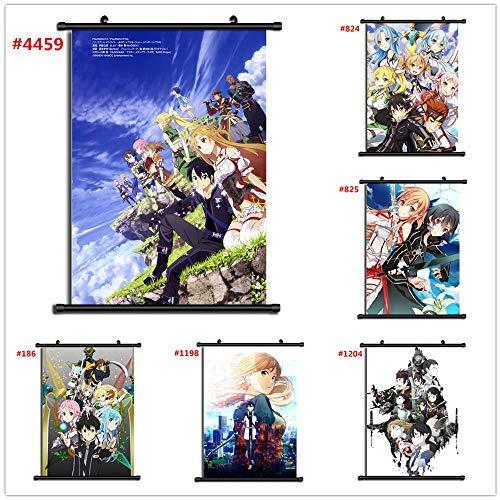 Por Anime Sword Art Online Manga Póster De Pared Sala De...