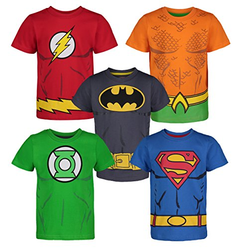 DC Comics Camiseta con los Superhéroes de la Justice League...