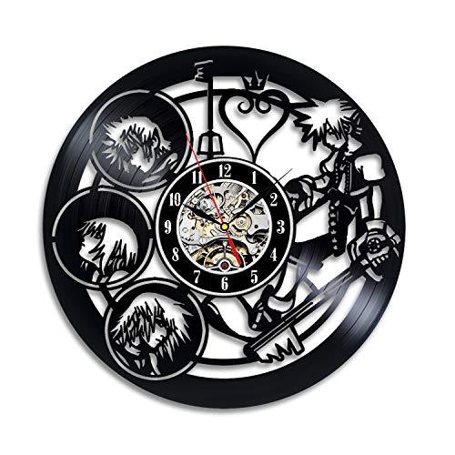 Reloj de pared con diseño de disco de vinilo del cómic...