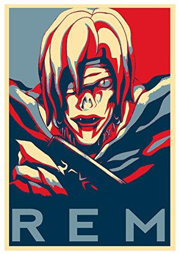 Poster Death Note'Propaganda' Rem - A3 (42x30 cm)