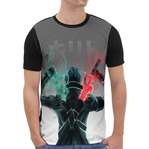 VOID Kirito Camiseta gráfica para Hombre T-Shirt All-Over...