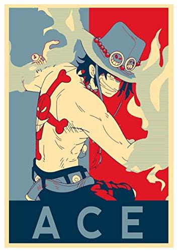Instabuy Poster One Piece Propaganda Ace - A3 (42x30 cm)