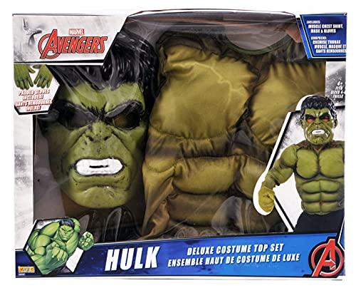 Avengers - Disfraz de Hulk infantil, con pecho, máscara y...
