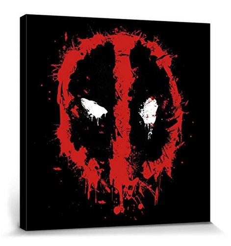 1art1 Deadpool - Splat Cuadro, Lienzo Montado sobre Bastidor...