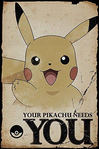 Pokèmon Póster Your Pikachu Needs You (61cm x 91,5cm) + 2...