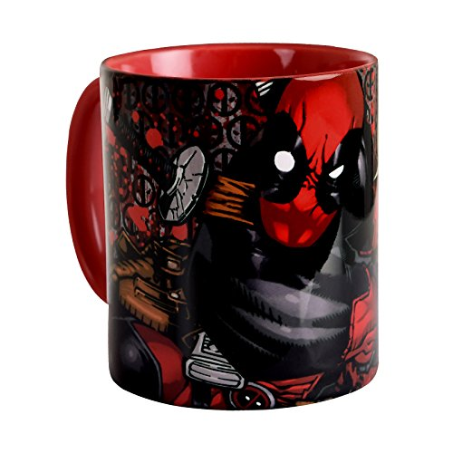 Elbenwald Deadpool Marvel Taza cómico Wraparound Rojo de...