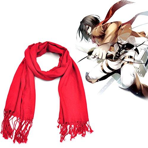 CoolChange Pañuelo Rojo para Disfraz de Mikasa Ackerman |...