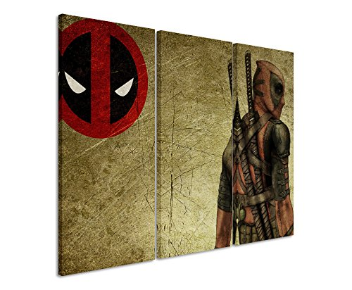 Lienzo 3 teilig Deadpool_Wade_Wilson_ 3 x 90 x 40 cm (total...