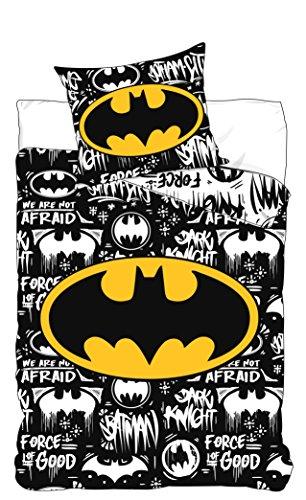 DC COMICS BATMAN Juego de cama Batman Logo DC Comics - Funda...