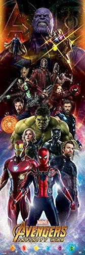 Avengers: Infinity War Caracters - Póster para puerta,...