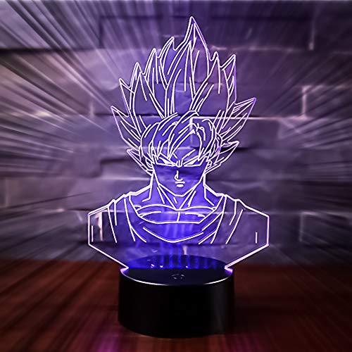 3D Lámpara de Escritorio Win-Y LED 7 del tacto del color de...