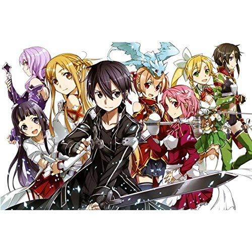 KWELJW Decoración del Hogar Anime Sword Art Online Poster...