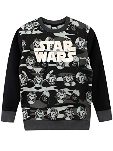 Star Wars Sudadera para niños Guerra de Las Galaxias Negro...