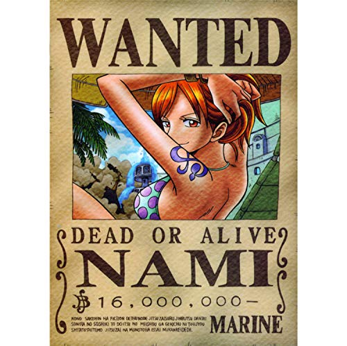 taoyuemaoyi One Piece Wanted Posters Vintage Wall Pictures...