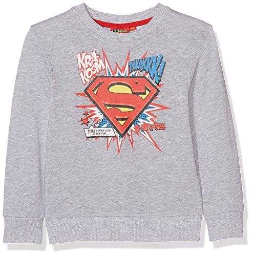 Superman 161484 Sudadera, Gris, 6 años para Niños