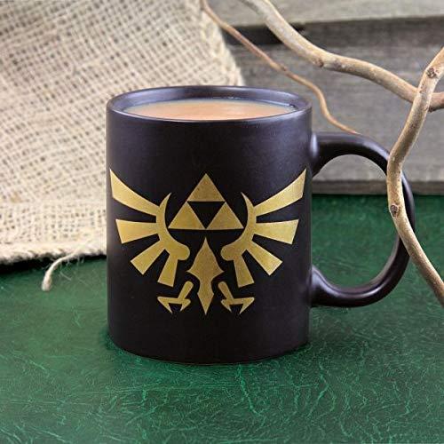 The Legend of Zelda Taza Desayuno, cerámica, Negro y...